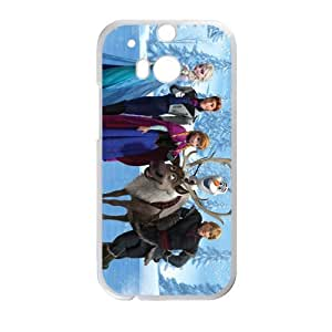 Happy Frozen Princess Elsa Anna Kristoff Olaf Sven Hans Cell Phone Case for HTC One M8