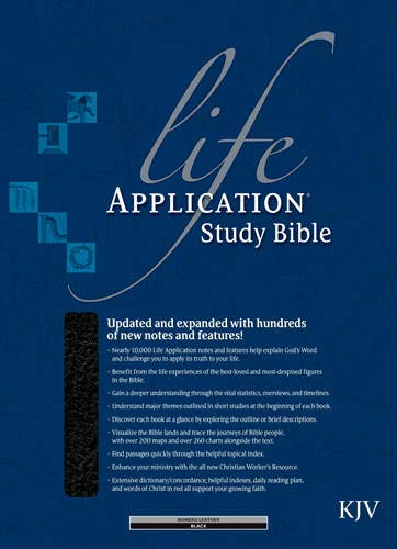 KJV Life Application Study Bible, Second Edition (Red Letter, Bonded Leather, Black, Indexed) by Tyndale House Publishers