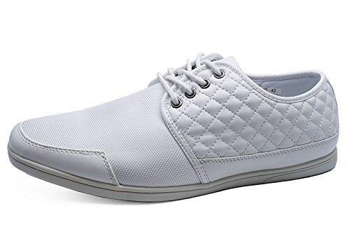 HeelzSoHigh Herren Weiß Zum Schnüren Lässig Elegant Turnschuhe Pumps Slipper Bequeme Schuhe Größen 6-11