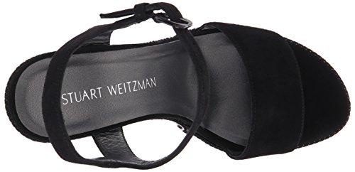 Stuart Weitzman único de la mujer sandalias de cuña Black