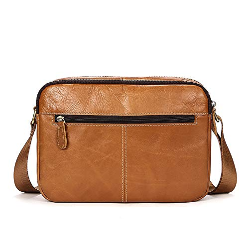 Bag Unisex For Shoulder Vintage Use Crossbody Trip color Everyday Travel Satchel Messenger Work Flight Briefcase Jxth Leather Coffee And Day Retro Men's School Brown XYqx07w