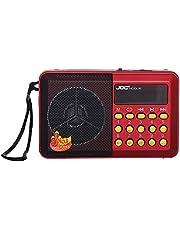 Joc H033U Portable Digital Radio with Mp3 Player- Red