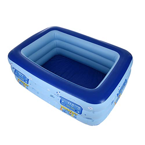 TKI-S Children's Pool PVC Inflatable Family Swimming Center Ocean World Children's Independent 3 Level Pool 63 in Blue