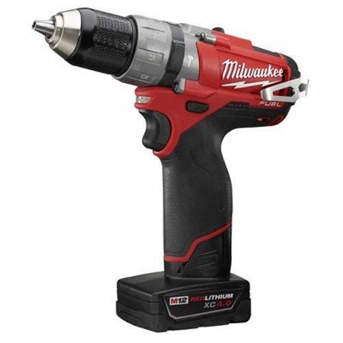 Milwaukee 2404-22 M12 Fuel 1/2 Hammer Drill Kit W/2 Bat
