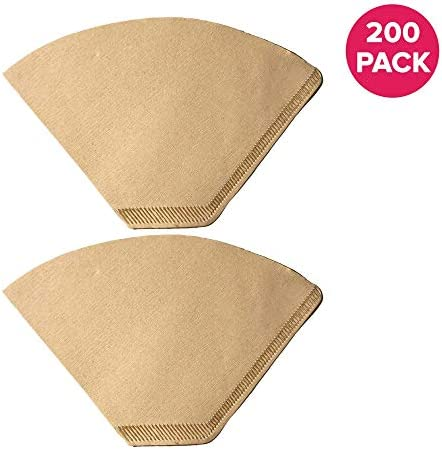 Think Crucial Replacement Coffee Filter Fits Most Clever Model #4 Coffee Maker//Dripper Compatible with #4 Unbleached Natural Brown Paper Coffee Filter 300 Pack
