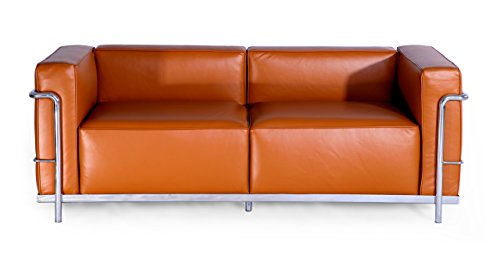 Kardiel Roche Loveseat, Caramel Aniline Leather