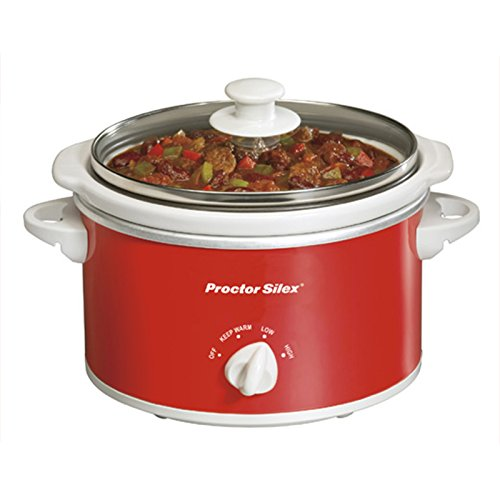 Proctor Silex 33111Y Portable Oval Slow Cooker, 1.5-Quart