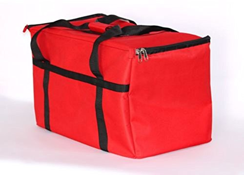 Food Delivery Bag Red Pan Carrier Red Nylon 23