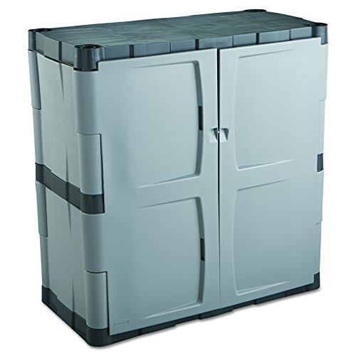 Rubbermaid Double-Door Storage Cabinet 18  D x 36  W x 37  H Gray/Black FG708500MICHR  sc 1 st  Amazon.com & Garage Storage Cabinets with Doors: Amazon.com