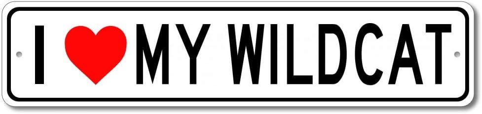 Buick Wildcat I Love My Car Aluminum Sign, Garage Wall Decor, Man Cave Sign - 4x18 inches