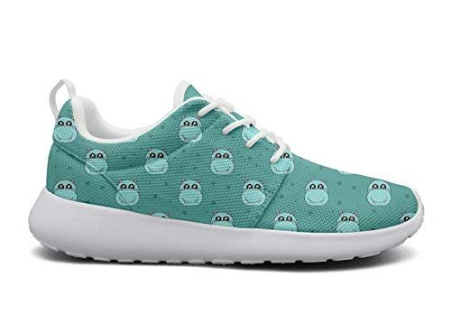 Wear-Resistant Outdoor Sneaker Cute Colorful Hippo with Stars Women Fashion Running Shoes