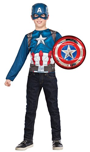 Imagine by Rubie's Avengers Assemble Captain America Super Shield and Costume Top Set -