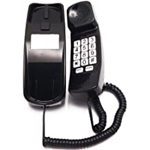Trimline Corded Phone - Phones For Seniors - Phone for hearing impaired - Black - Retro Novelty Telephone - An Improved Version of the Princess Phones in 1965 - Style Big Button - iSoHo Phones