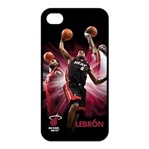 NBA Miami Heat Super Star Lebron James for Iphone4/4s Leather Cover Case-Creative New Life