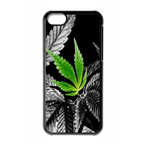 Iphone 5C Case, weed hd in color Case for Iphone 5C Black