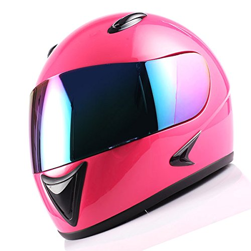 1Storm Motorcycle Street Bike BMX MX Youth Kids Full Face Helmet Glossy Pink -