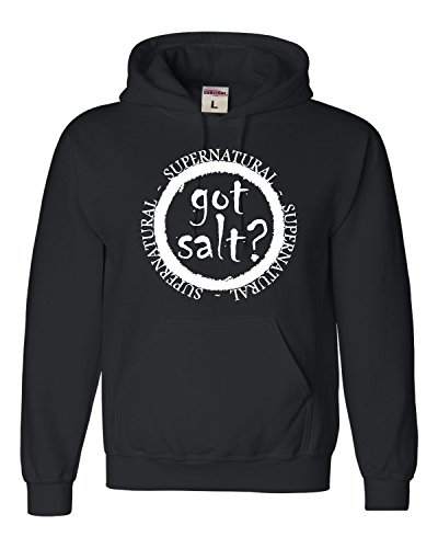 X-Large Black Adult Got Salt? Supernatural Sweatshirt Hoodie -