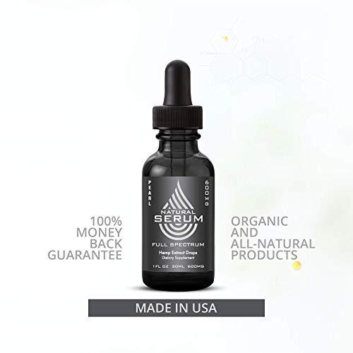 Natural Serum Full Spectrum Hemp Oil Drop for Anti inflammatory, Sleep, Arthritis, Depression, Chronic Pain and Anxiety Relief (300 MG)