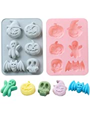 2Pcs 6 Holes semicircle silicone mold, used for chocolate, cake, jelly, pudding, candy, handmade soap