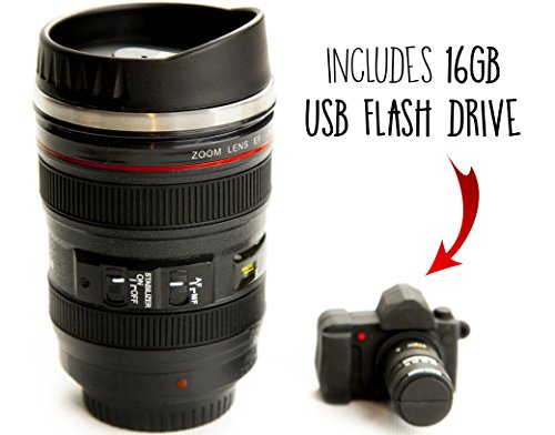 Camera Lens Coffee Mug & 16gb USB Flash - Camera Lens Coffee Travel Mug