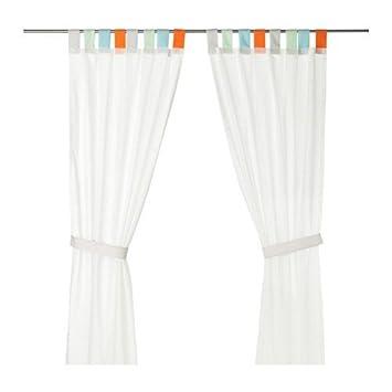 Amazon.de: IKEA HIMMELSK 2 Gardinen + Raffhalter in grau ...