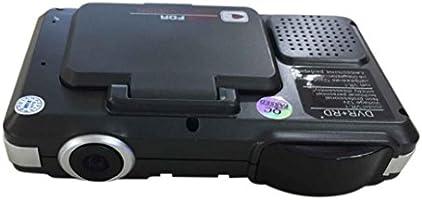 2 en 1 coche cámara DVR Registrator de vídeo y detector de velocidad de Láser Radar, gaddrt G-sensor grabadora