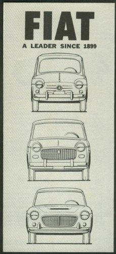 1963 Fiat full-line sales folder 600D 1100D 1200 Spider