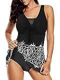 Bathing Suits for Women Swimsuits One Piece Retro Swimdress Flowy Skirt Mesh Dress Athletic Womens Swimwear 14-16