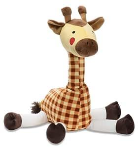 Happy Plaid Giraffe Plush