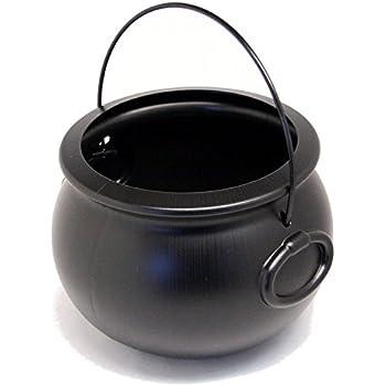 "7 1/4"" Black Plastic Cauldron"