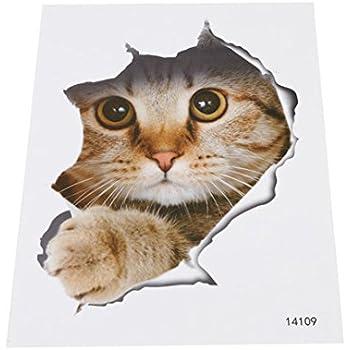 amazon com rurah 3d cute cats wall decal animals sticker home