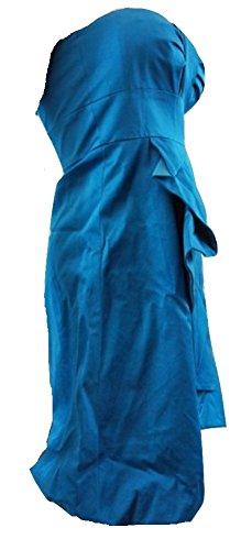 Karen MillenDamen Kleid, Einfarbig Blau Teal Blue