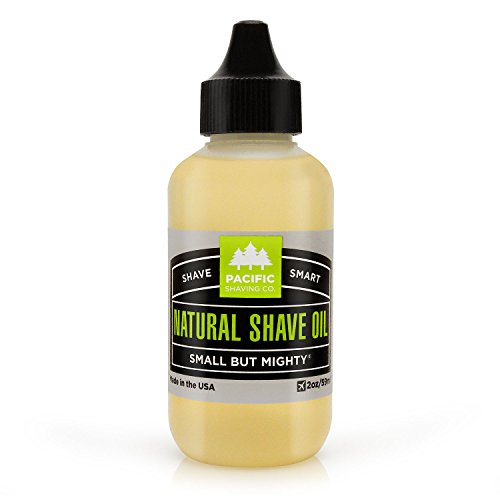 Pacific Shaving Company Natural Shaving Oil - Eliminates Cuts, Nicks, Razor Burn, Soothes & Moisturizes Skin, Reduces Irritation, with Safe, Natural & Organic Ingredients, Made in USA, 2 oz ()