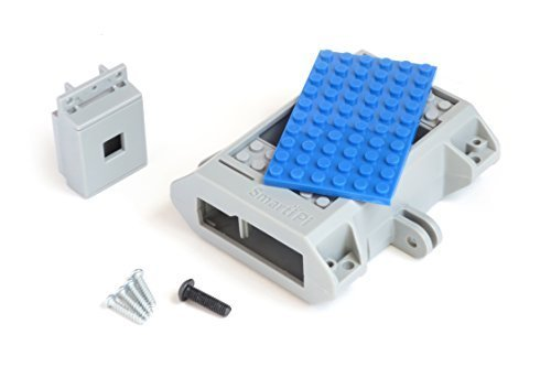 Building block compatible SmartiPi Raspberry Pi B+,2, and 3 w/ camera case – Blue
