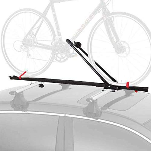 CyclingDeal 1 Bike Car Roof Carrier Rack Bicycle Racks with Lock (Best Way To Get Locking Wheel Nuts Off)
