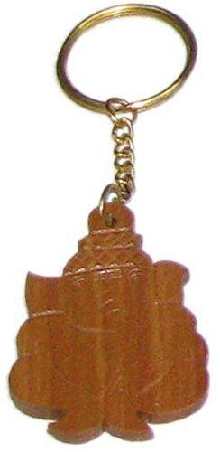Amazon.com: Bala bharathi Ganesh tallado de madera llavero ...