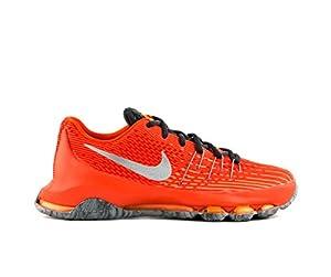 Nike Kids KD 8 Basketball Shoes-Total Orange/Reflective Silver-7