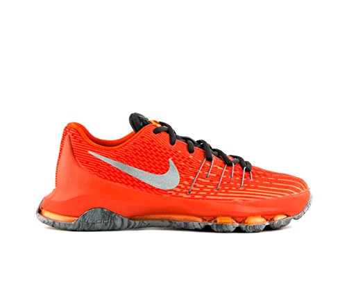 Nike Kids KD 8 Basketball Shoes-Total Orange/Reflective Silver-7
