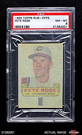 Amazoncom 1966 Topps Rub Offs Pete Rose Cincinnati Reds Baseball