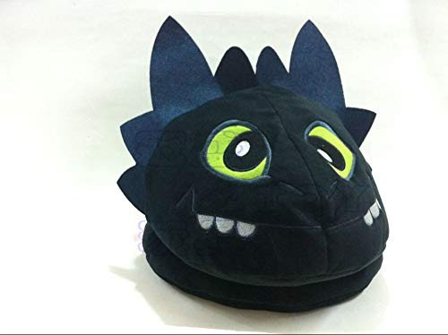 How to Train Your Dragon 2 Toothless Night Fury Plush Hat Cap Cosplay Costume Black 22cm/8.67