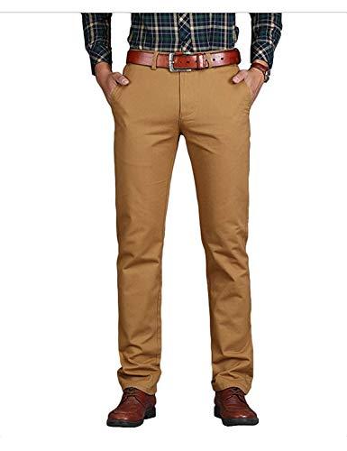 Hommes The Poches Confortables Company Droite Tailles Couleurs Mi Avec Khaki Taille Solides Pantalon Vêtements Chinois Mode Dunkel Décontracté Hx Croissantes 8wn0gq7Ipq