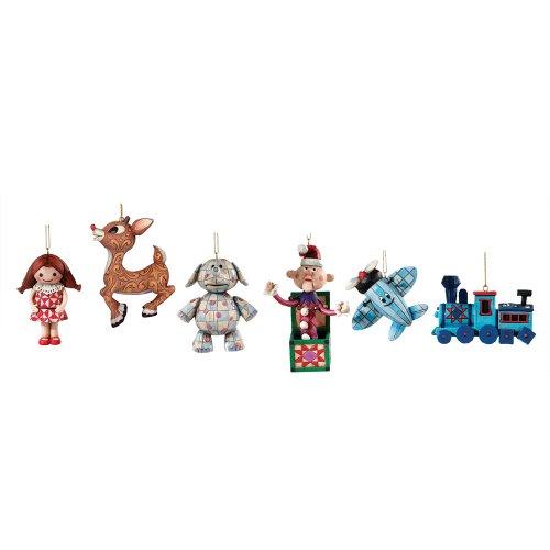 d Reindeer Misfit Toys Hanging Ornaments, Set of 6 (Reindeer Hanging Ornament)