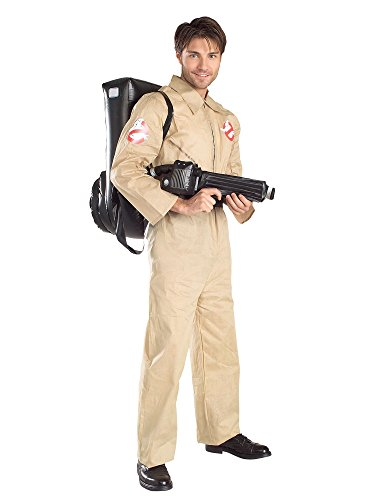 Ghostbusters Costume With Inflatable Backpack, Tan, Adult Standard -