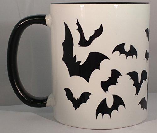 Bat Swarm - 11 Ounce Ceramic Coffee Mug Black Handle