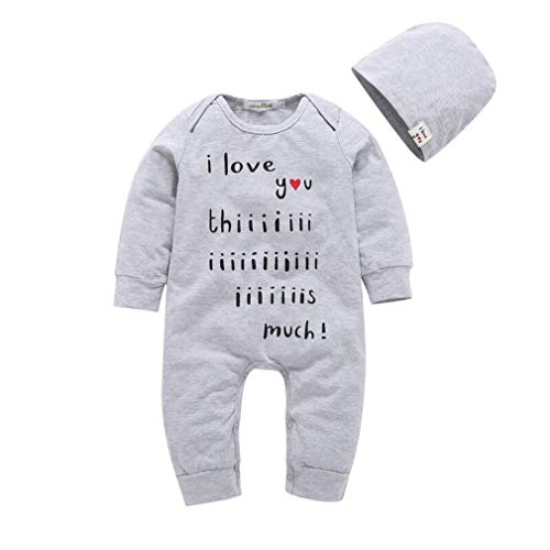 Baby Clothes Fashion Rompers+Hats Twins Baby Autumn Letter Print Sets Baby Bodysuit