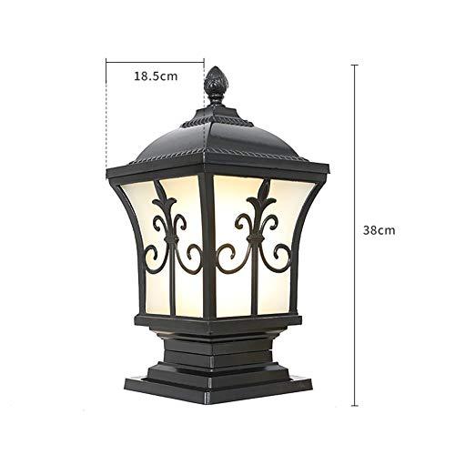 Vintage Metal Lantern Outdoor Garden Pillar Lights Crystal Glass Gatepost Lamps