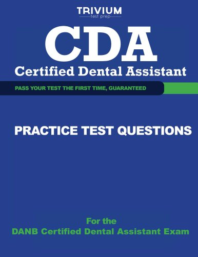 CDA Certified Dental Assistant Practice Test Questions Pdf