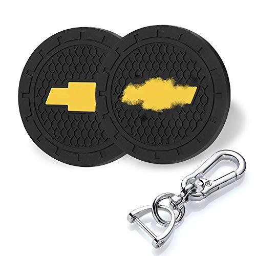 YANGYI 2.75 Inch Car Interior Accessories for Chevrolet Chery Cup Holder Insert Coaster – Silicone Anti Slip Cup Mat for Chevrolet Cruze Malibu Camaro Colorado Equinox Silverado (2 Pack)