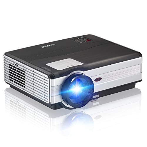 ZLMI Video Projector 4500 Lumens Support Full HD 1080P Multimedia Home Cinema Theater Smart Movie Projector with HDMI VGA USB AV for Home Outdoor Entertainment from ZLMI