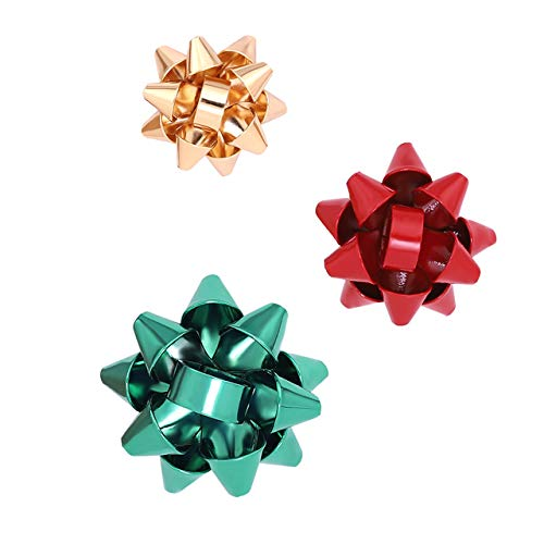 CEALXHENY Christmas Brooch Pins Set Crystal Christmas Tree Snowflake Reindeer Jingle Bell Brooches Holiday Party Gift for Women Girls (H Red+Green+Gold) ()
